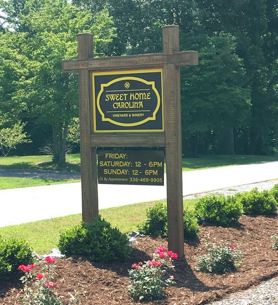Sweet Home Carolina Vineyard Sign